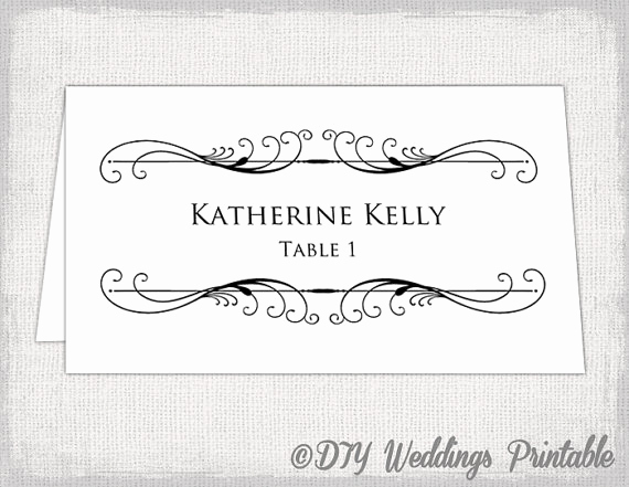 Place Card Template Word Beautiful Microsoft Word Template for Tent Cards Download Free