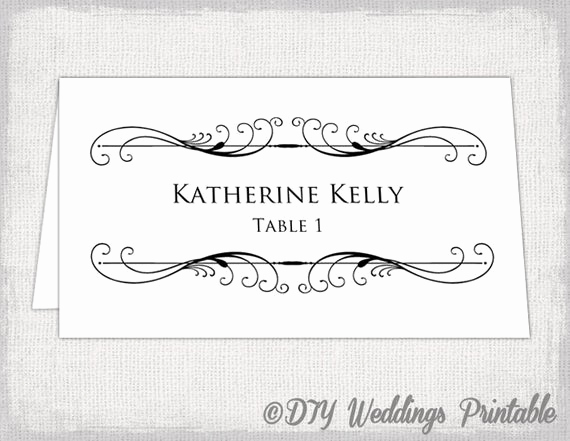 Place Card Template Word Fresh Printable Place Card Template Tent Name Card Templates