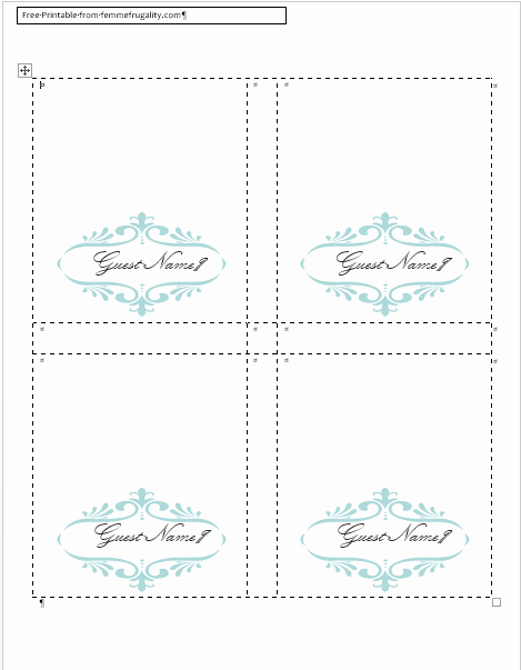 Place Card Template Word Inspirational How to Make Your Own Place Cards for Free with Word and