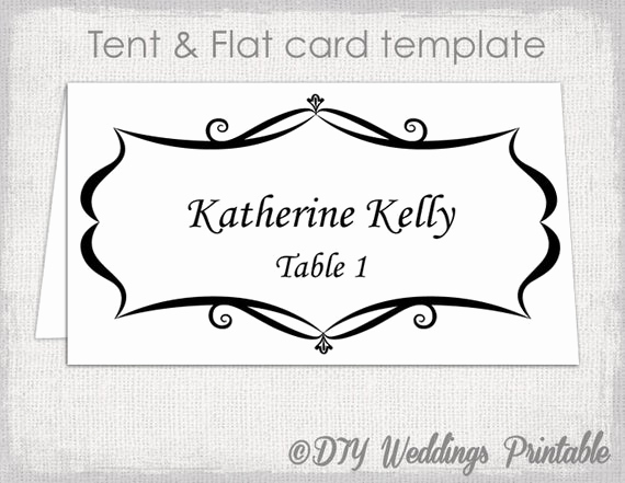 Place Card Template Word Lovely Place Card Template Tent and Flat Name Card Templates