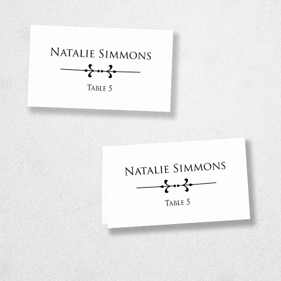 Place Card Template Word Lovely Printable Place Card Template Instant Download Escort Card