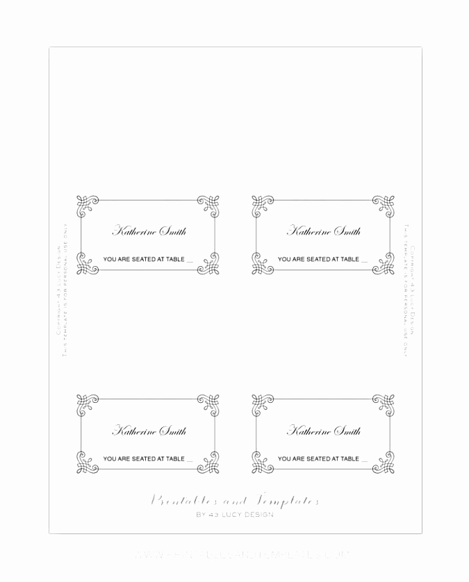 Place Card Template Word New 9 Place Card Template Word 6 Per Sheet Puiwy