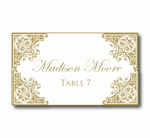 Place Card Template Word New Wedding Place Card Template Instant by Clearylaneweddings