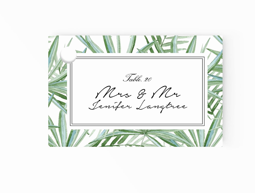 Place Card Template Word Unique Wedding Escort and Place Card – Xo Bspoke