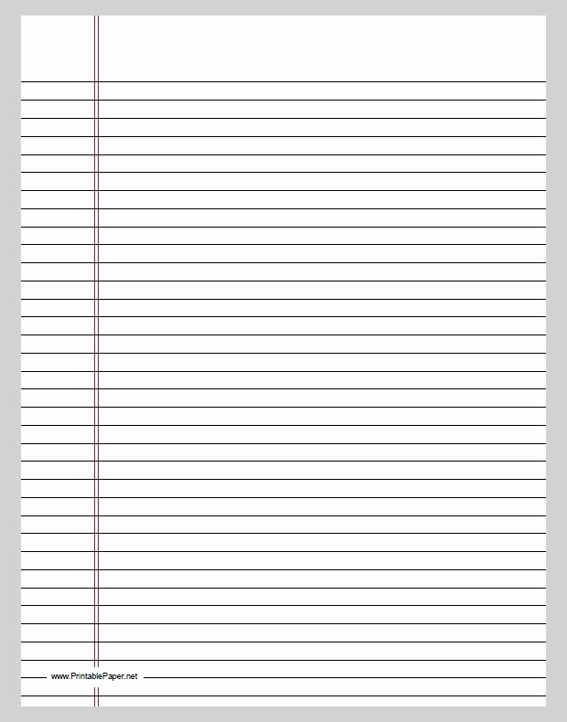 image about Printable Lined Paper called Printable Included Paper Pdf Refreshing Printable Covered Paper Pdf