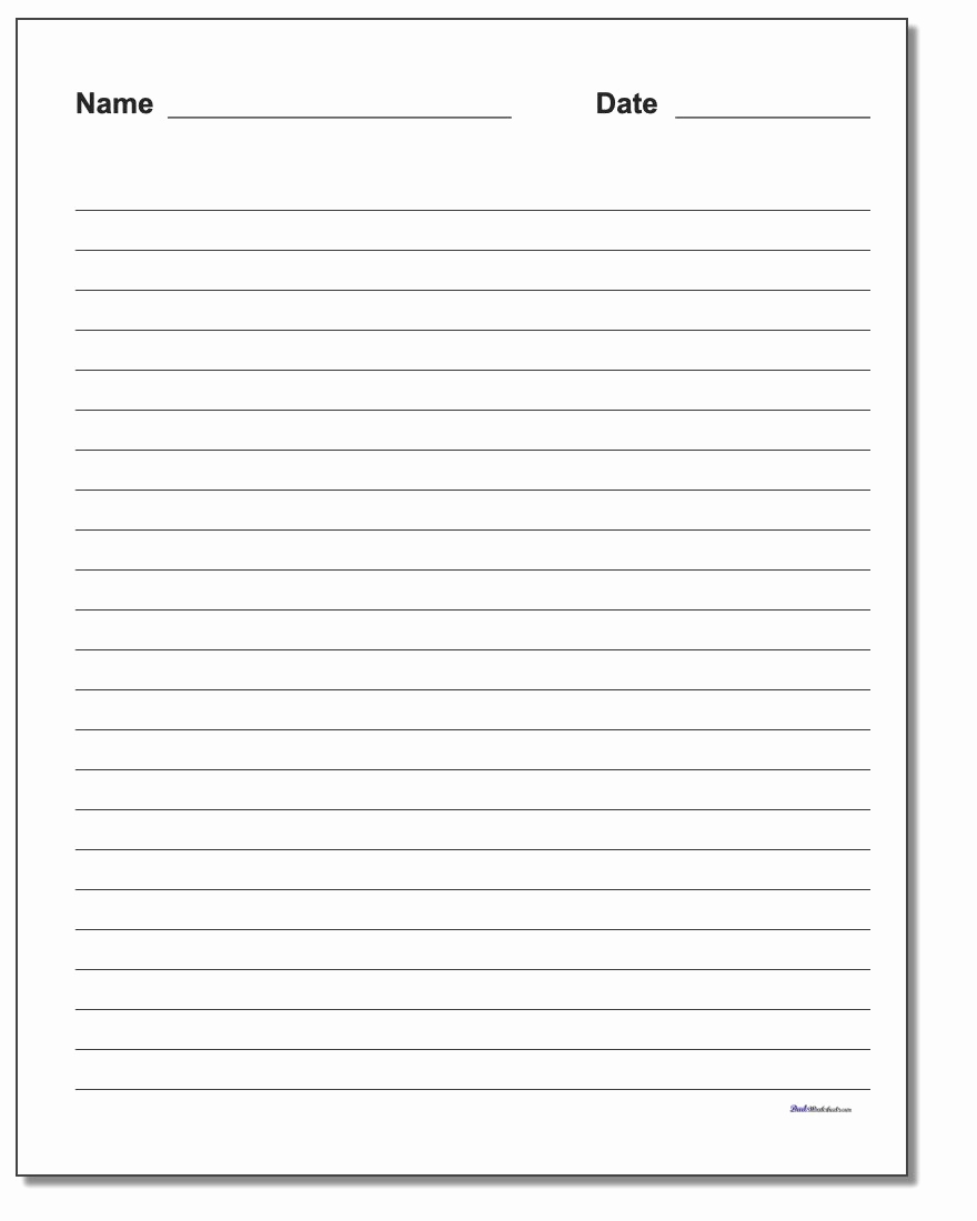 Printable Lined Paper Pdf Inspirational Handwriting Paper