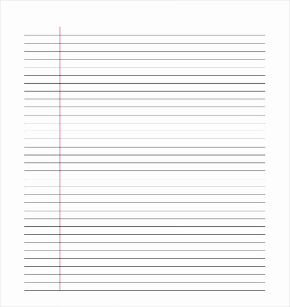 Printable Lined Paper Pdf Lovely 10 Lined Paper Templates Doc Pdf Excel
