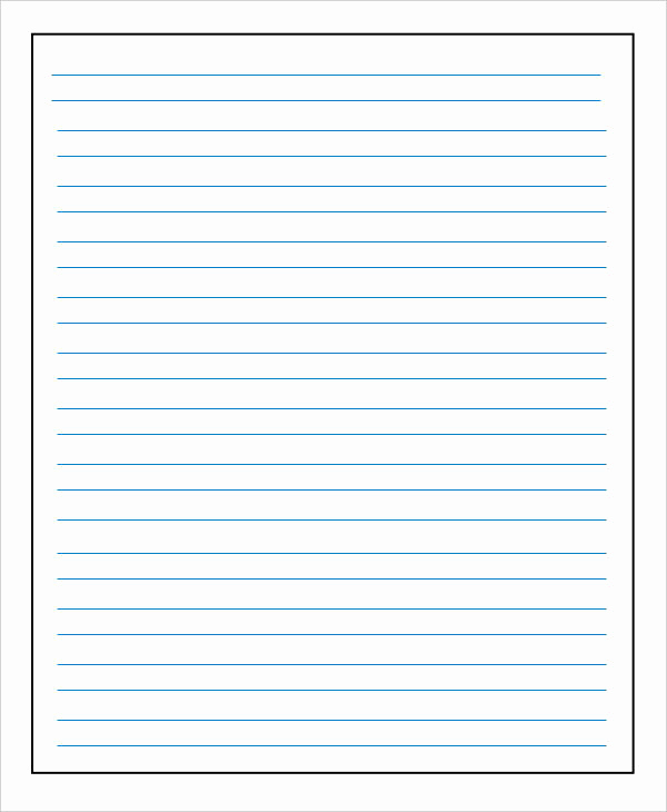 Printable Lined Paper Pdf Lovely 13 Lined Paper Templates In Pdf