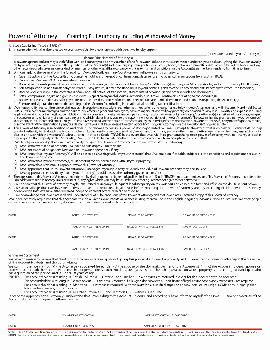Printable Power Of attorney Best Of 50 Free Power Of attorney forms & Templates Durable