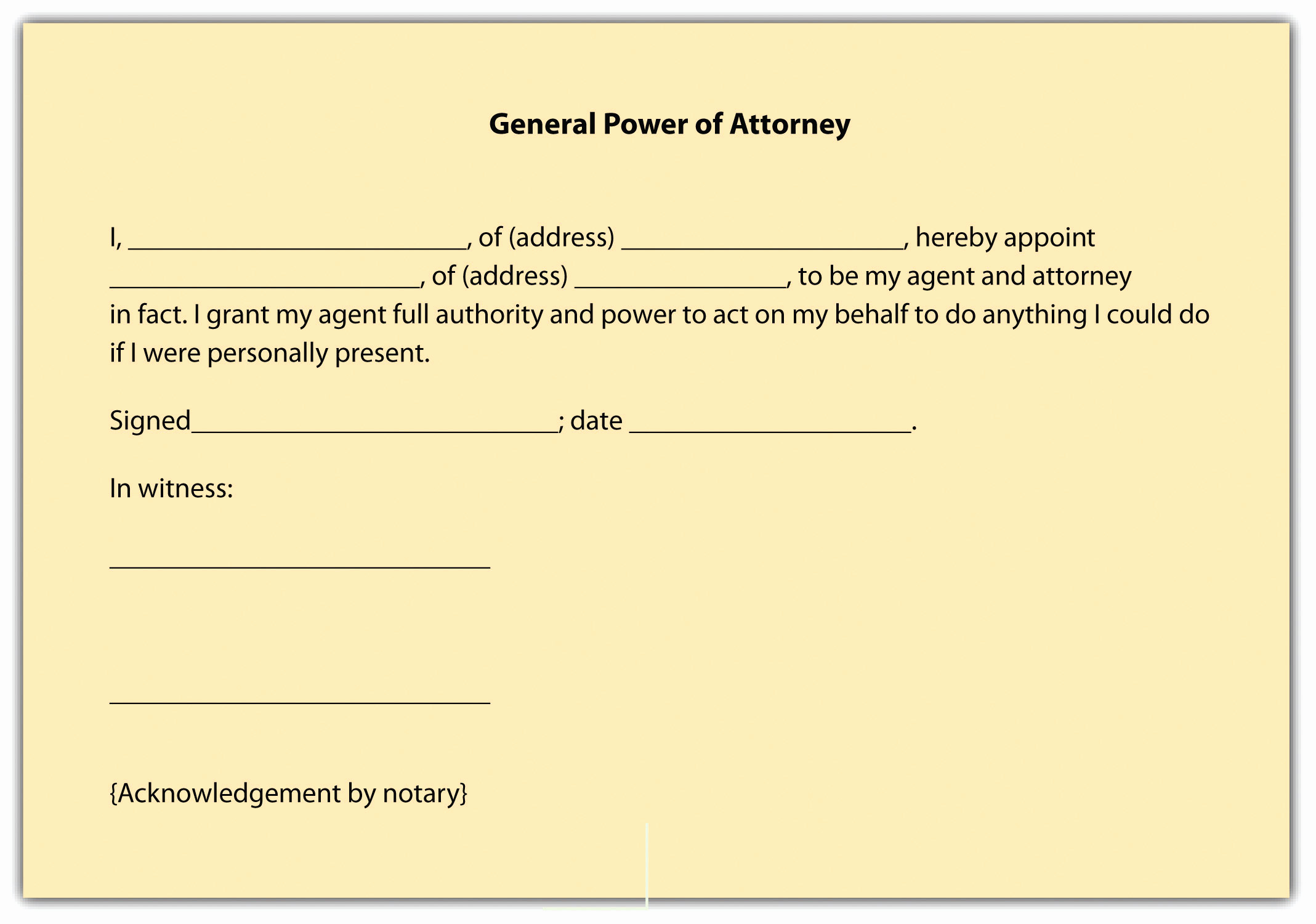 Printable Power Of attorney Elegant Relationships Between Principal and Agent