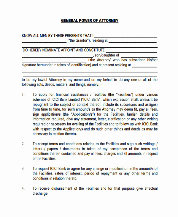 Printable Power Of attorney Lovely 24 Printable Power Of attorney forms