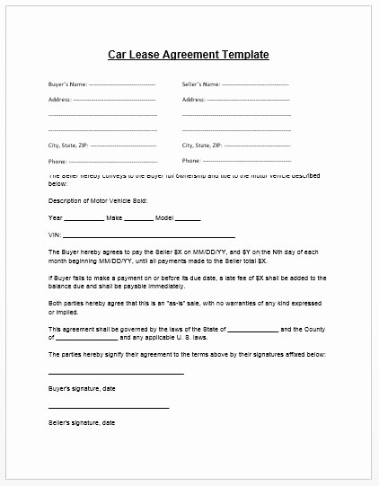 Printable Vehicle Purchase Agreement Fresh Loan Agreement Template