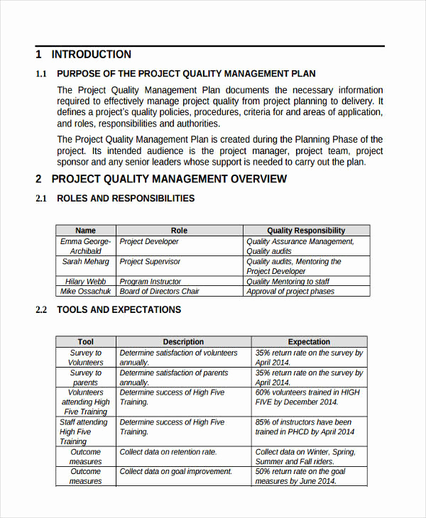 Project Management Plan Example Inspirational 57 Management Plan Examples Pdf Word Pages