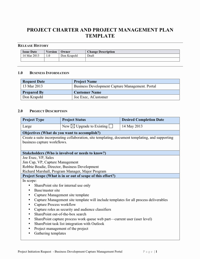 Project Management Plan Example Luxury Scope Of Work Template Free Documents for Pdf