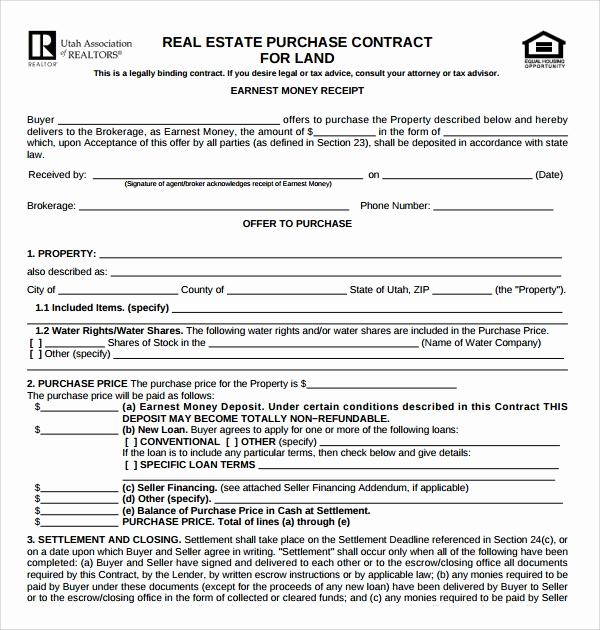 Real Estate Contract Template Elegant 14 Sample Real Estate Purchase Agreement Templates