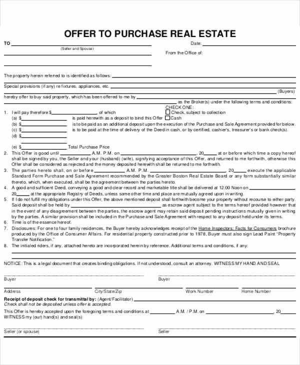 Real Estate Offer Letter Beautiful 8 Real Estate Fer Letter Template 9 Free Word Pdf
