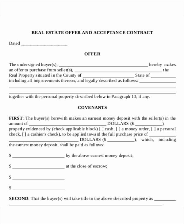 Real Estate Offer Letter Luxury 8 Real Estate Fer Letter Template 9 Free Word Pdf
