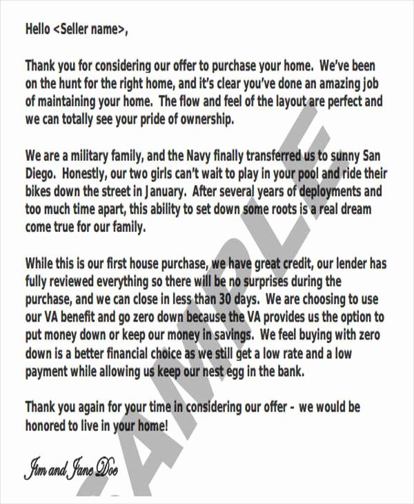 Real Estate Offer Letter Unique 36 Simple Fer Letter Templates