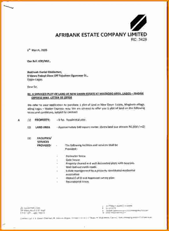 Real Estate Offer Letter Unique Real Estate Fer Letter