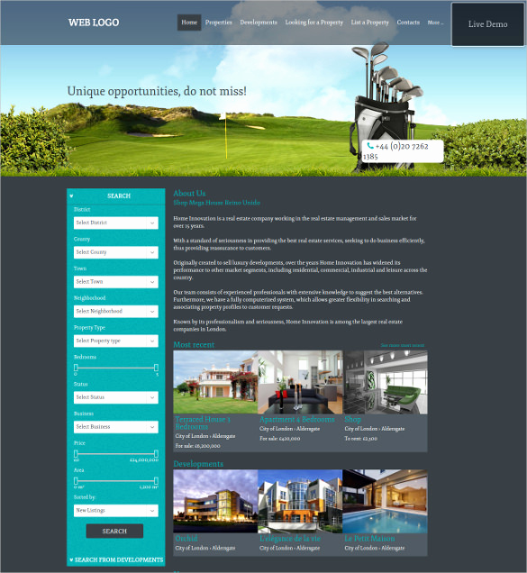 Real Estate Website Templates Awesome 33 Real Estate Website themes & Templates
