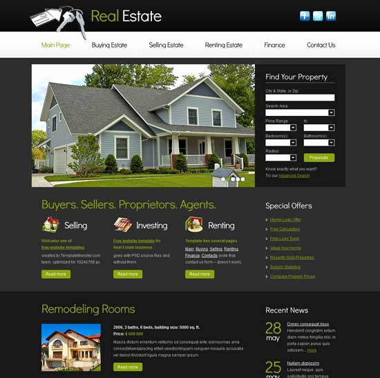 Real Estate Website Templates Awesome 50 Best Real Estate Website Templates Free & Premium
