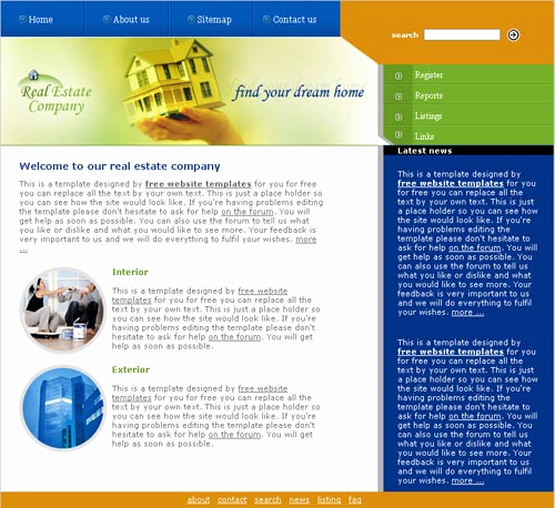 Real Estate Website Templates Awesome Real Estate Template