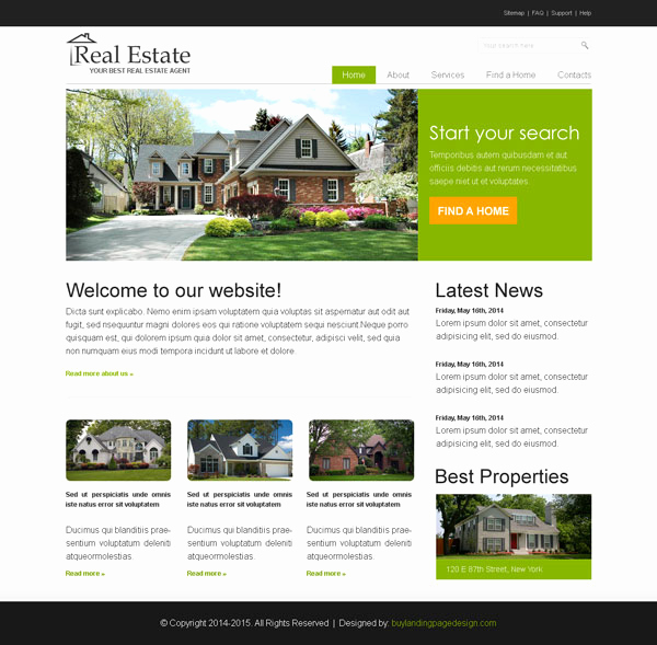 Real Estate Website Templates Awesome why You Should Choose Landing Page Design Templates From Us