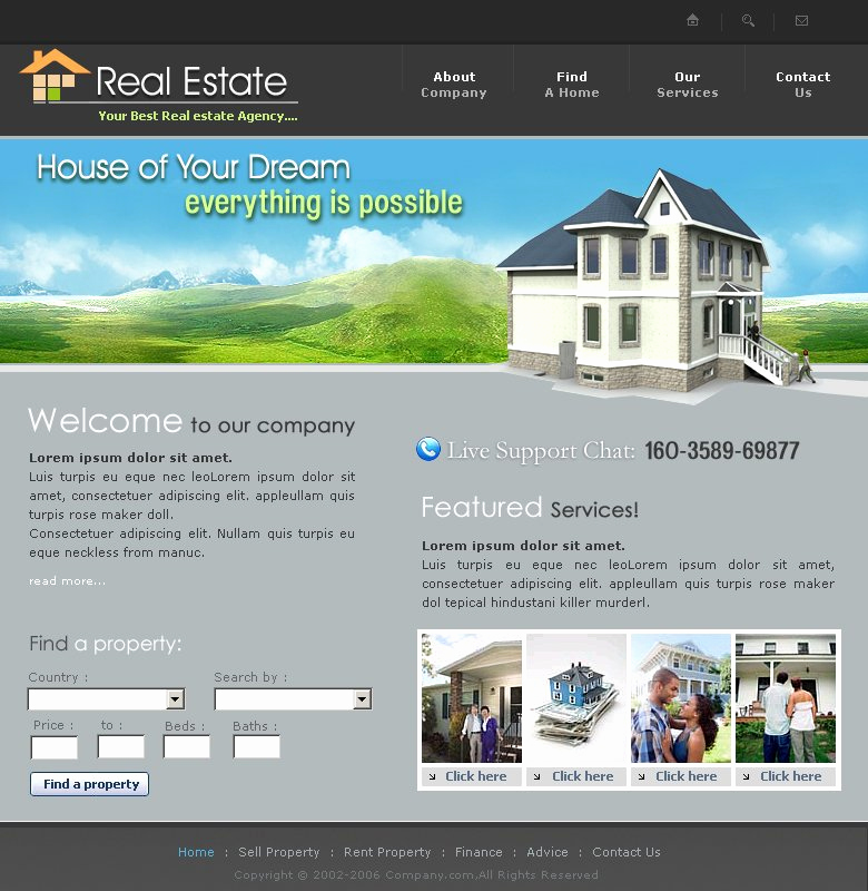 Real Estate Website Templates Best Of Free Real Estate Website Template