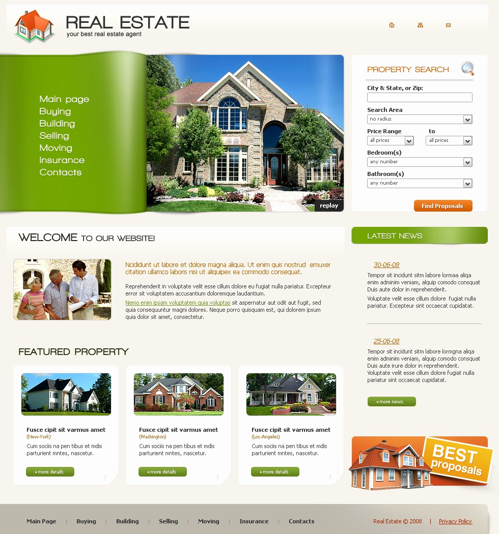 Real Estate Website Templates Best Of Real Estate Agency Website Template