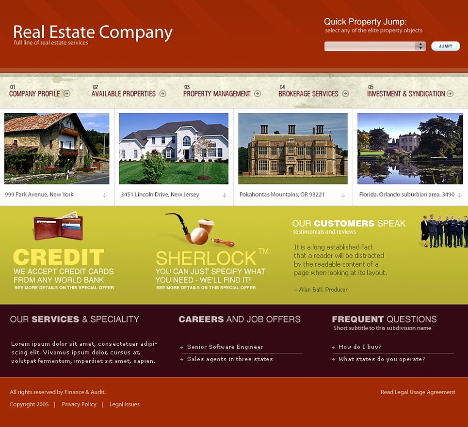 Real Estate Website Templates Elegant Real Estate Website Template 9696