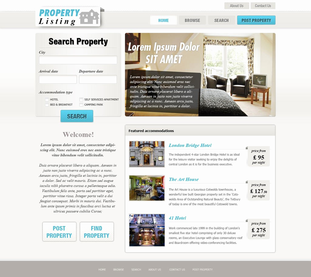 Real Estate Website Templates Lovely Real Estate Website Template