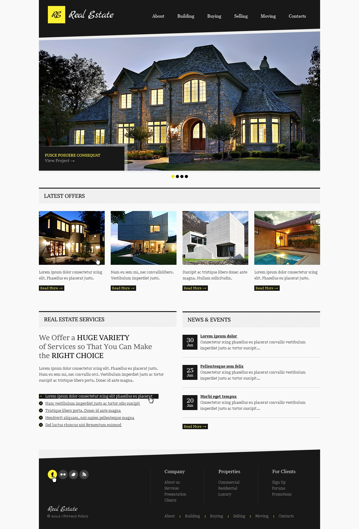 Real Estate Website Templates Luxury Real Estate Website Template