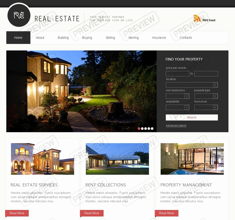 Real Estate Website Templates New Real Estate Agent Website