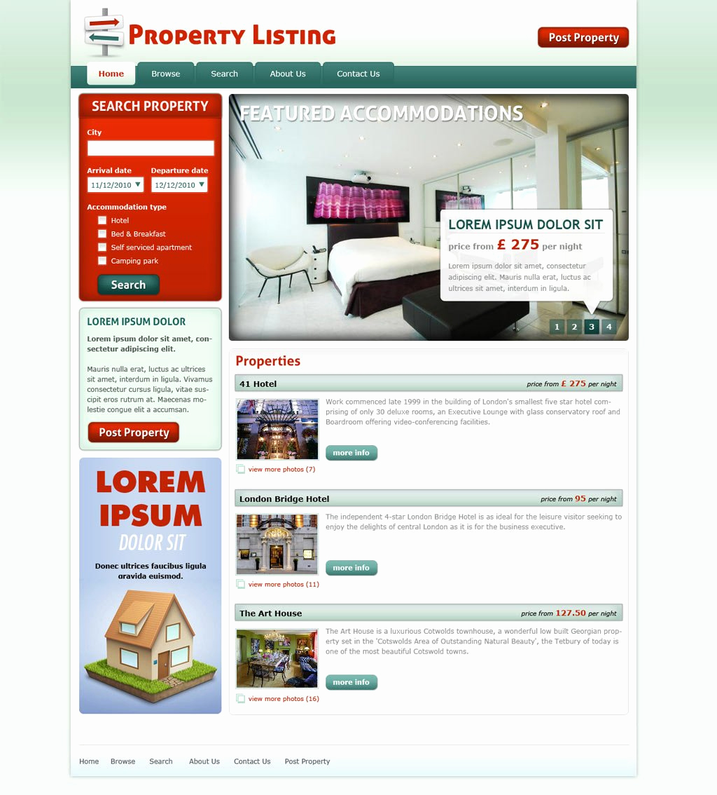 Real Estate Website Templates Unique Real Estate Website Template