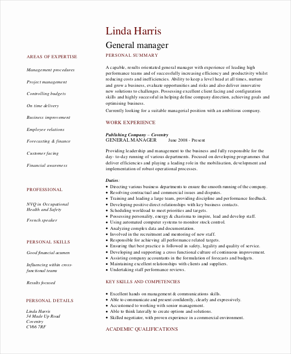 Retail Store Manager Resume Best Of 8 Retail Manager Resumes Free Sample Example format