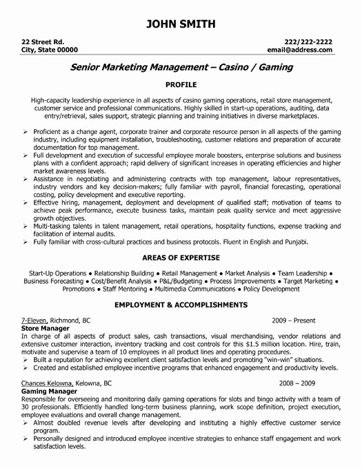 Retail Store Manager Resume Best Of Pin by Jennifer Tritt On Resume