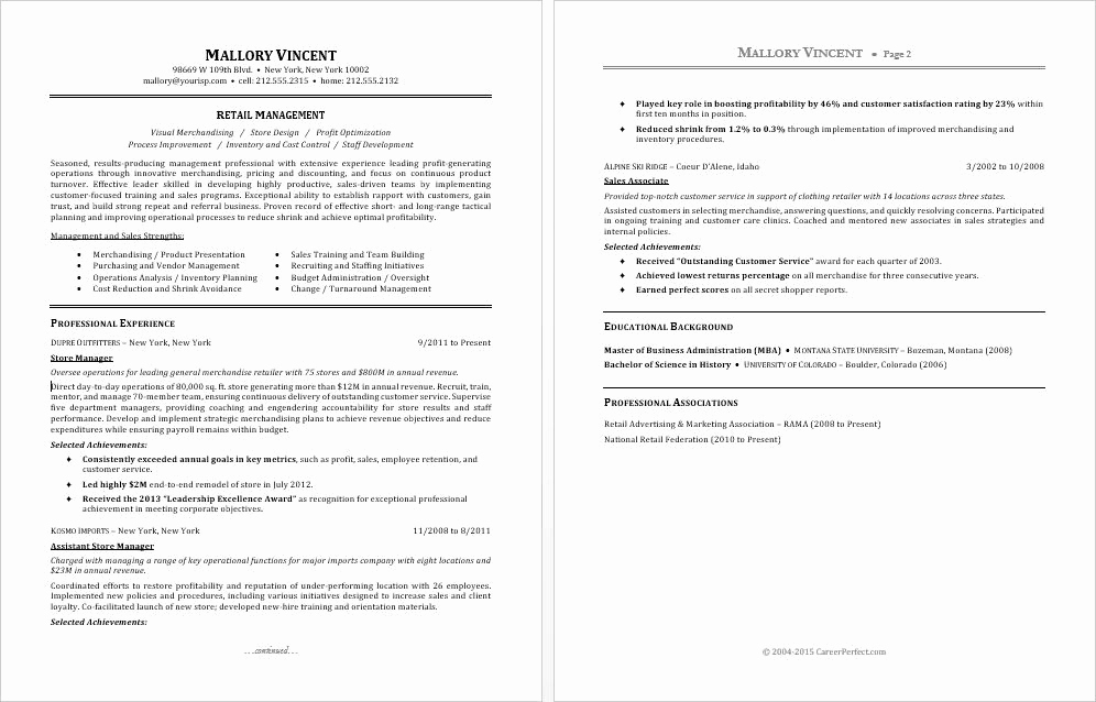 Retail Store Manager Resume Best Of Sample Resume for A Retail Manager