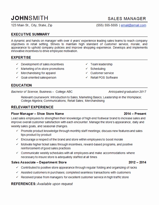 Retail Store Manager Resume Luxury Retail Manager Resume Example Department Store