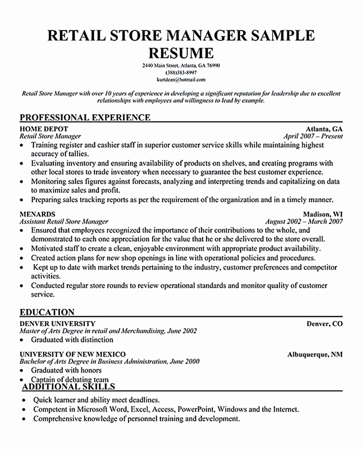 Retail Store Manager Resume New Best 25 Retail Manager Ideas On Pinterest