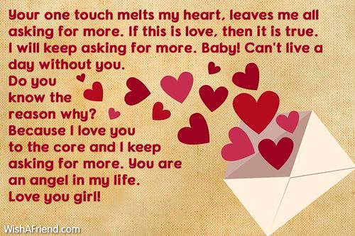 Romantic Love Letters for Her Best Of Your One touch Melts My Love Letters for Her