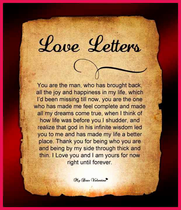 Romantic Love Letters for Her Inspirational Romantic Love Letters for Her