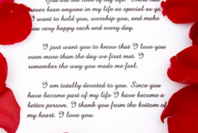 Romantic Love Letters for Her New Romantic Love Letters for Her