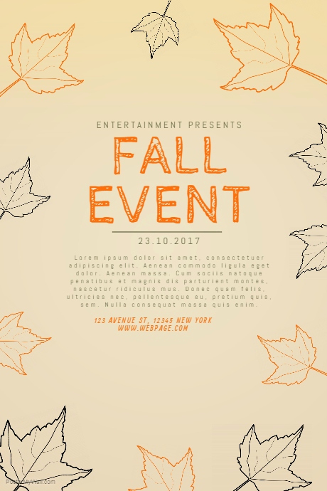 Run Of Show Template New Copy Of Fall event Flyer Template