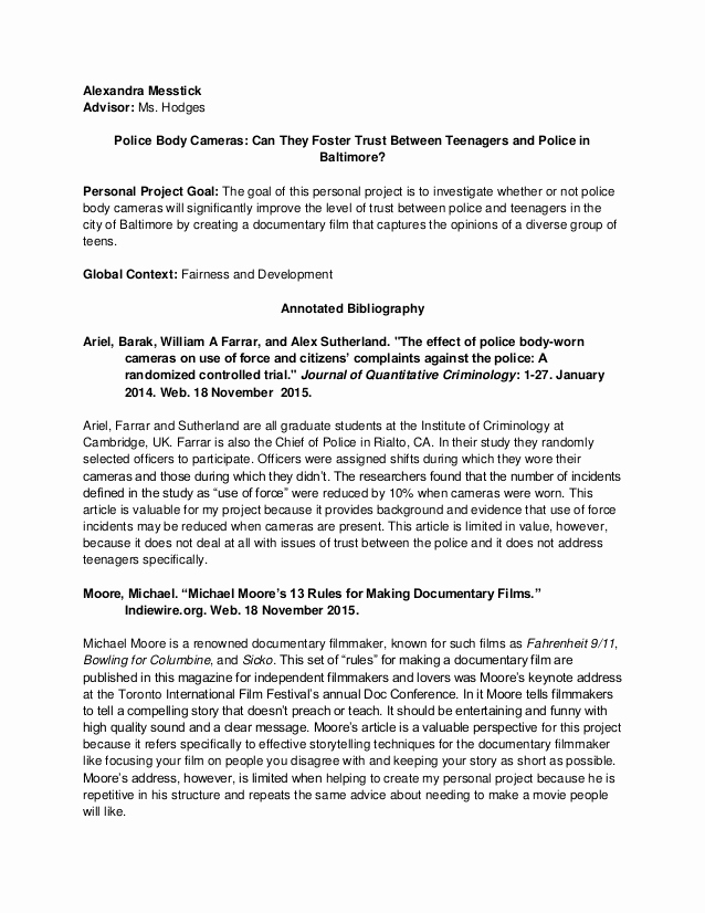 Sample Apa Annotated Bibliography Awesome Sample Annotated Bibliography