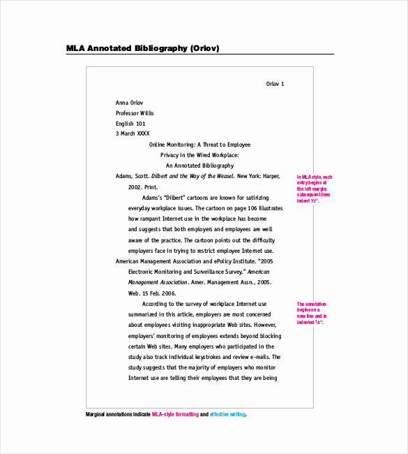 Sample Apa Annotated Bibliography Elegant Annotated Bibliography Template 2 Free Word Excel Pdf