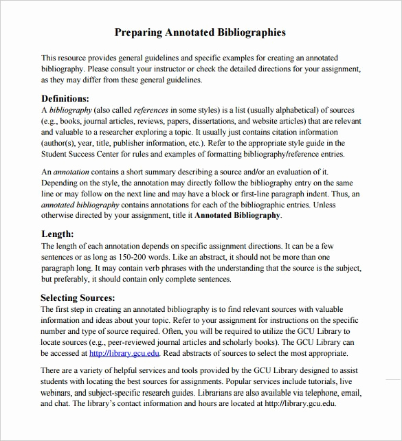 Sample Apa Annotated Bibliography Fresh 7 Annotated Bibliography Templates – Free Word & Pdf
