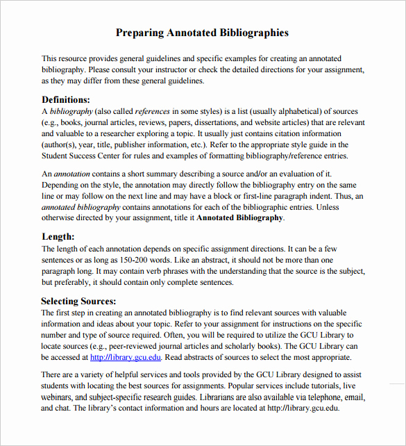Sample Apa Annotated Bibliography Lovely 9 Annotated Bibliography Templates – Free Word & Pdf