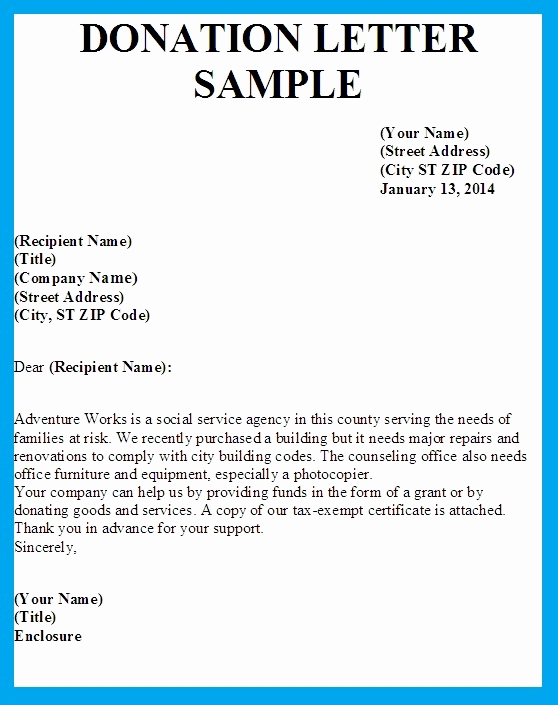 Sample Letters asking for Donations Lovely Sample Letter asking for Donation