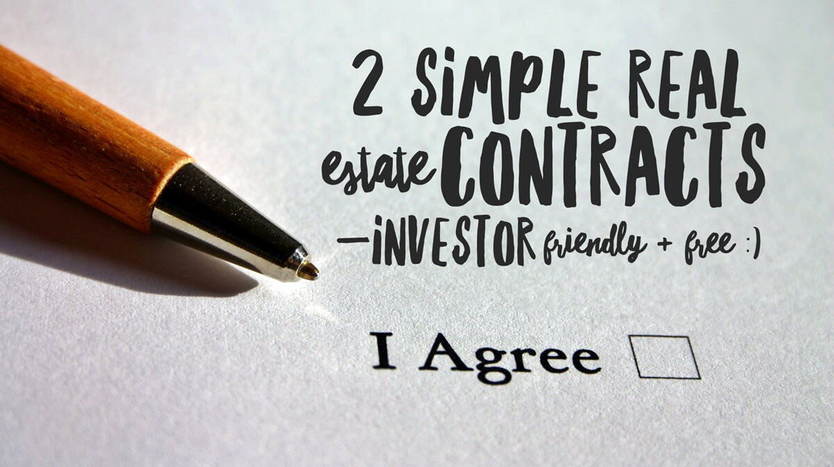 Simple Real Estate Contract Best Of 2 Simple Real Estate Contracts —investor Friendly & Free