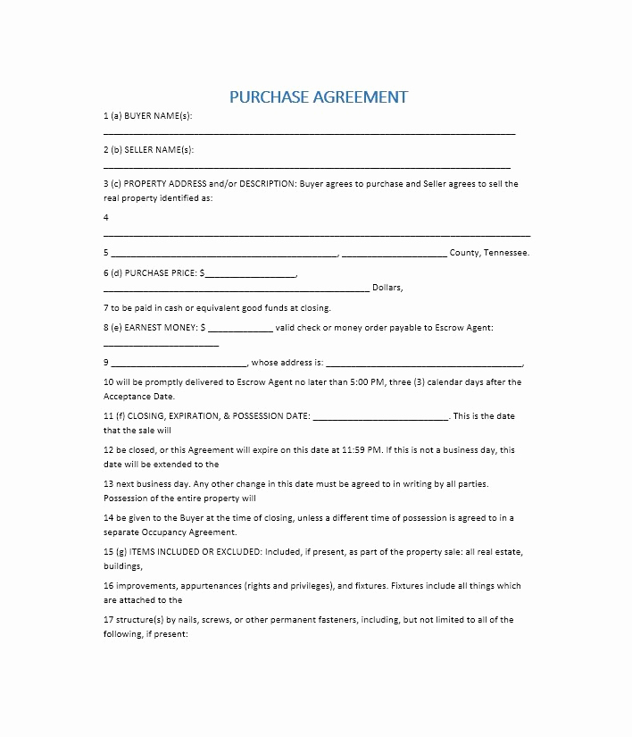 Simple Real Estate Contract Best Of 37 Simple Purchase Agreement Templates [real Estate Business]